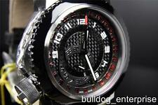 Mens Invicta Reserve Russian Diver Black Red GMT Interchangeable Watch New 10005