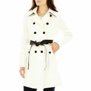 ceinturé ® n tailles 1x 220 noire ivoire laine Grandes mélange a et A de Nwt en Manteau 0ngpq0