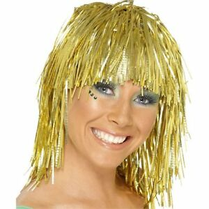 Fun Tinsel Green Wig One Size
