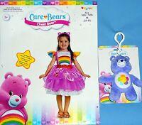 Care Bears;cheer Bear Deluxe Costume Dress;girls 3t-4t;headband;plush Bear Toy