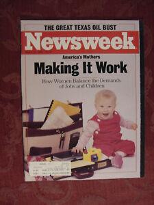 NEWSWEEK magazine March 31 1986 Women Working Ferdinand Marcos Texas Oil