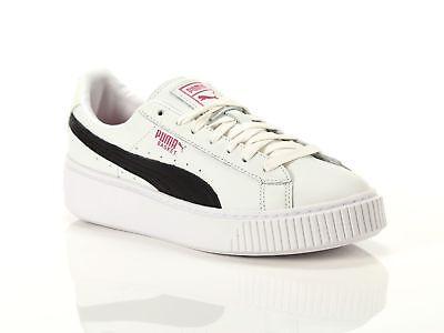 PUMA BASKET PLATFORM EXOTIC Scarpe Sneakers 367509 01 Donna Ragazza Bianco Nero | eBay