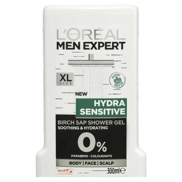 L'Oreal Men Expert Shower Gel Hydra Sensitive 300ml Soothes Redness
