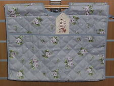 BNWT-Hobby Gift-Dainty Lilac Rose/ Polka Dot  Design-Premium Craft Project Bag