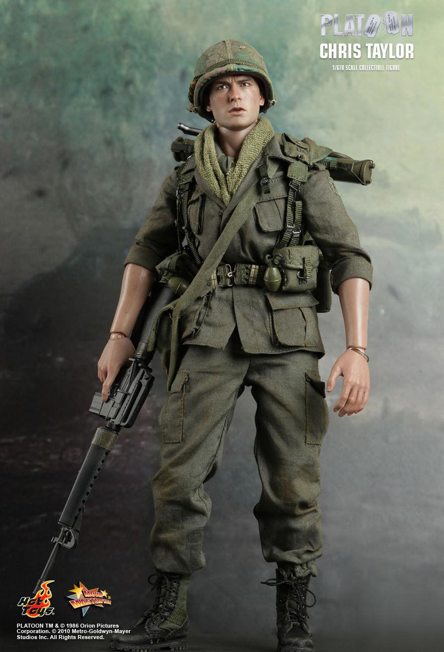 Hot Toys 16 Platoon MMS privado de primera clase Chris Taylor Figura De Acción