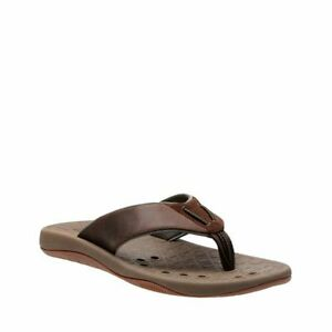 top brands good selling cheap price Details about Clarks Men's Bosun Coast Brown Nubuck Flip Flops 26125269