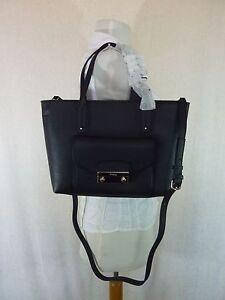 NWT FURLA Black Onyx Pebbled Leather Small Julia Tote Bag  368 ... 77d4715f8d67a