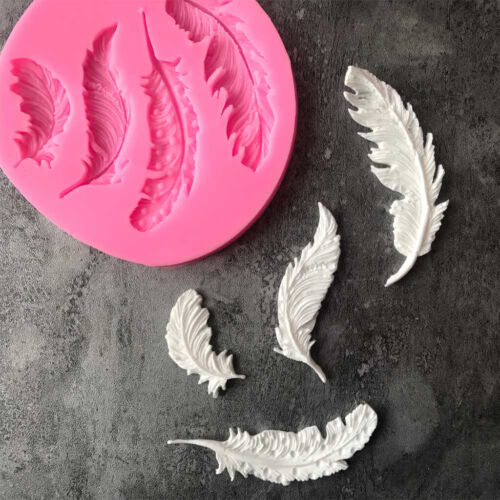 Sugar Pastes Clay Fondant 3D Feather Candy Mold for Cake Decoration Resin