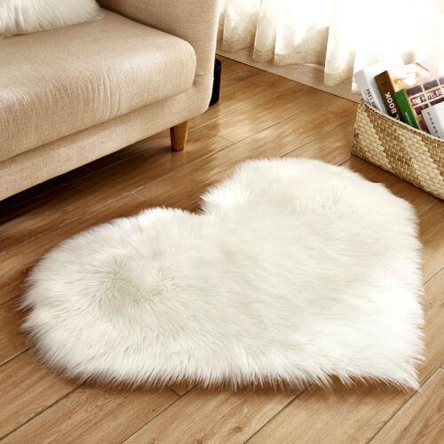 wool carpet heart shape rug for table floor mat for sofa long hair ground mat