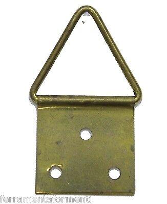 250 attaccaglie per quadri bronzo barocco snodate n.1 appendi gancio cornice