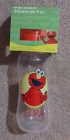 Sesame Street Red Elmo 9 Oz Baby Bottle With Nipple And 2 Covers Lids