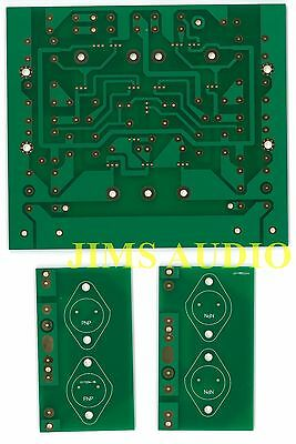 High Power Pure Class A amplifier PCB KSA50 mkii  fan-cooling heatsink two set