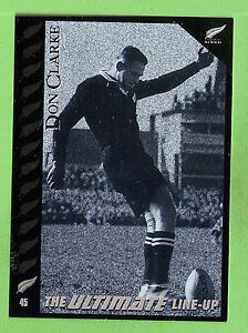 """1995 NEW ZEALAND ALL BLACKS RUGBY UNION CARD #45 DON """"THE BOOT"""" CLARKE"""