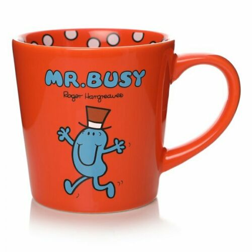 occupé Mug rouge Forever occupé en céramique Mr Men M