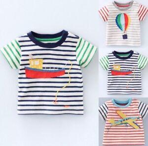 Nouveau-Just-in-Baby-Boden-Garcons-Applique-Top-T-shirt-a-manches-courtes-0-3-mois-4Yrs