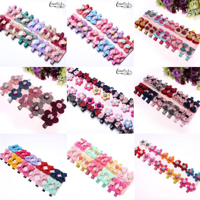 Wholesale 20pcs Handmade Baby Kids Girls Ribbon Bow Flower Hair Clips Alligator