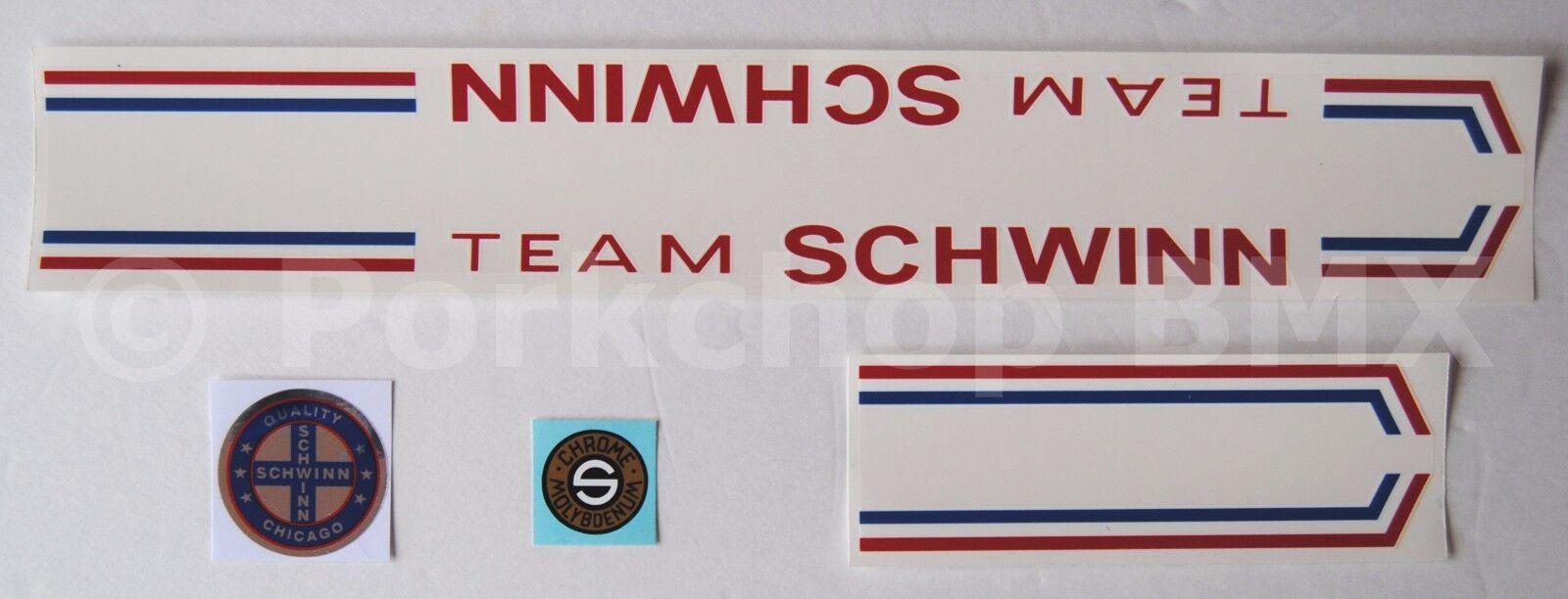 Licencia oficial de 1979-80 equipo Schwinn Marco Bmx Decal Set (Marco hechos en EE. UU.)