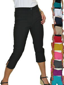 Ladies-High-Waist-Skinny-Stretch-Pedal-Pushers-Cropped-Trousers-8-22