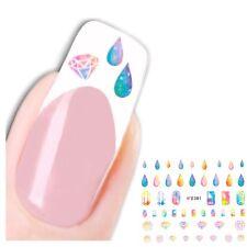 3D Nagel Sticker Nail Art Diamanten Tropfen Aufkleber