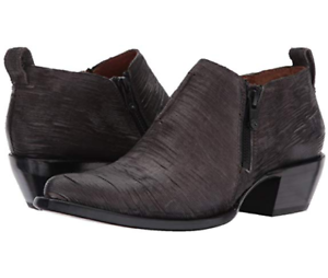 12e89013d5c6b New Womens FRYE Sacha Moto Shootie Charcoal Leather Ankle Boot $278 ...