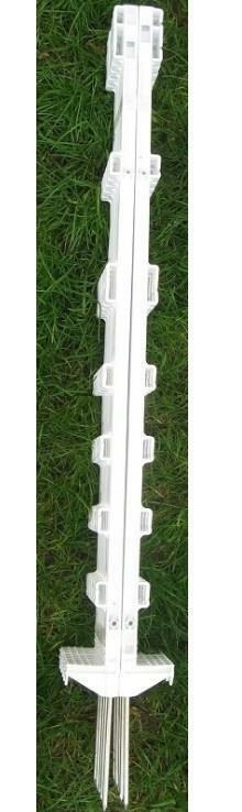 5 to 60 x 3ft Tall White Temporary Plastic Event Garden Fence Post Pins Stakes