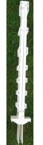 102030x 3ft Tall White Temporary Plastic EventGarden Fence Post PinsStakesNE