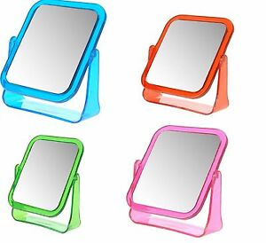Free Standing Rectangle Double Sided Mirror Magnifying