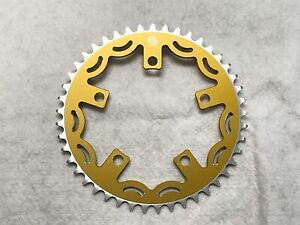 Snap BMX Products Series II 110mm 5 bolt Chainring - 45t Gold