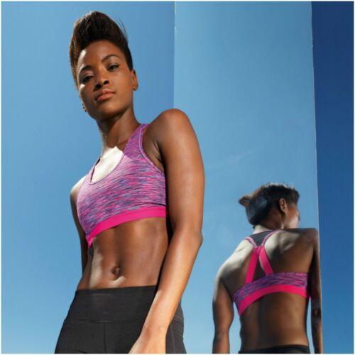 Women Ladies Sports Bra Crop Top Dance Vest Fitness Training Gym Yoga Running