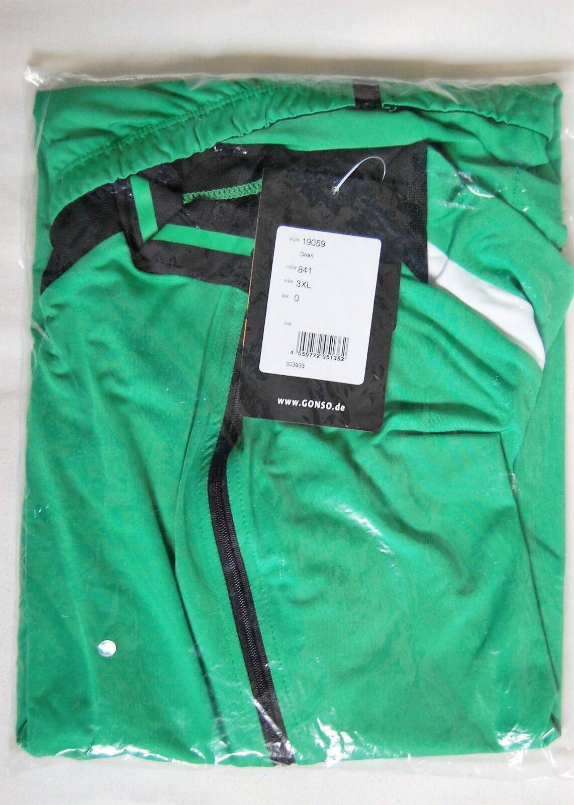 GONSO Dean Trikot XXXL langer Reißverschluß kurz Arm Fahrrad Shirt Zipp 56 3XL Grün