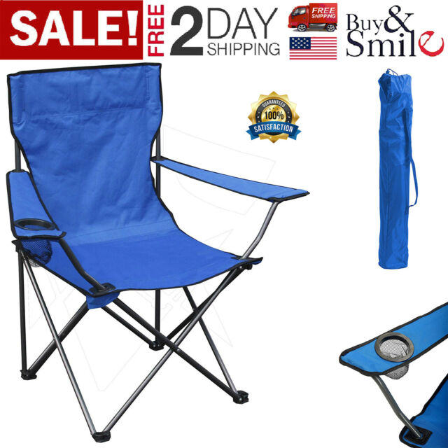Tremendous Folding Camp Chair Outdoor Portable Seat With Cup Holder Camping Picnic Beach Ibusinesslaw Wood Chair Design Ideas Ibusinesslaworg
