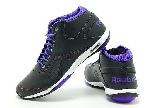 REEBOK SLIMTONE TONING TONING TONING TRAINING WALKING MID TOP SNEAKERS BLACK NEW WOMENS 6-8 483b08