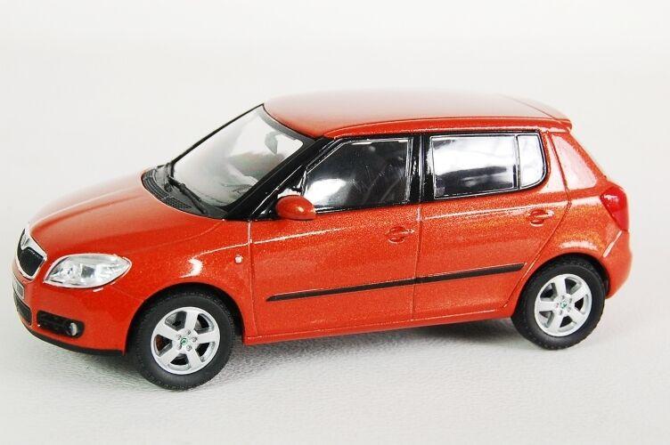 Skoda fabia tangerine orange metallic - 2007 2007 2007 abrex 143ab008ja 1   43 neue praha fabb99
