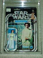 Vintage Star Wars KENNER 1978 AFA 80 PRINCESS LEIA ORGANA ANH 12 BACK MOC CLR BB