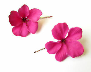 Hibiscus Flower Bobby Hair Pin Bridal & Wedding Party Jewelry