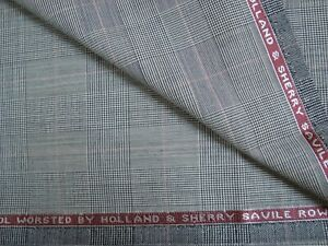 2-38-yd-HOLLAND-SHERRY-WOOL-FABRIC-Cool-Wool-Super-100s-7-5-oz-SUITING-86-034-BTP