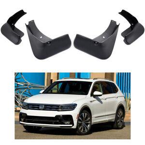 4PCS Black Splash Guards Mud Flaps Fenders For Volkswagen VW Tiguan 2017-2019