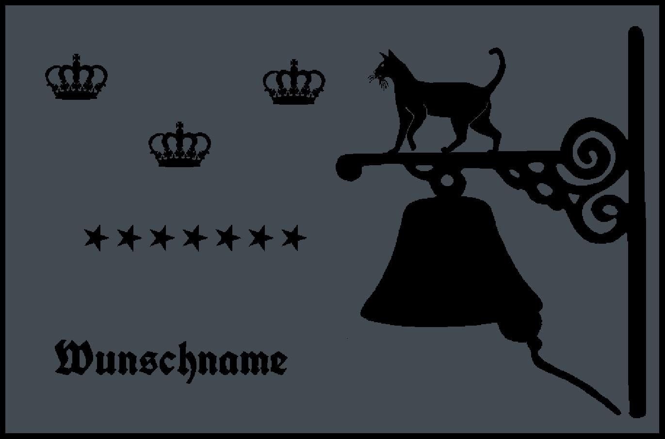 Fußmatte mit Namen Napfunterlage Katzenmatte  90x60 cm  Design 27180367 | Verschiedene Stile