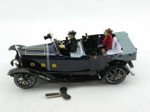 Blechspielzeug Auto Cabrio mit Chauffeur blau  3710807
