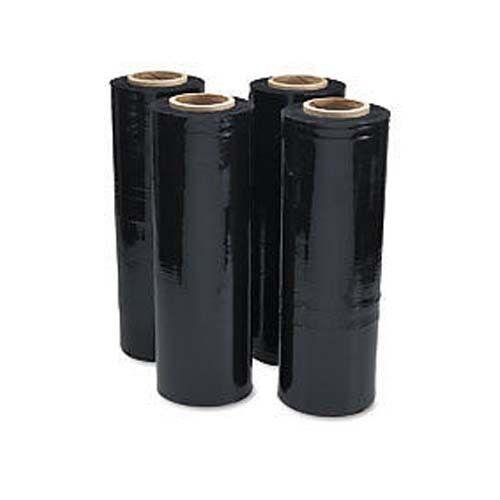 "18/"" Stretch Film Black Shrink Pallet 80 Gauge 4 Rolls Shipping Supplies Packing"