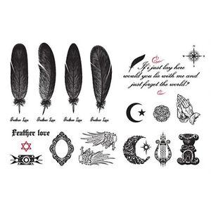 Butterfly-Letter-Transfer-Waterproof-Temporary-Tattoo-Body-Art-Sticker-RK