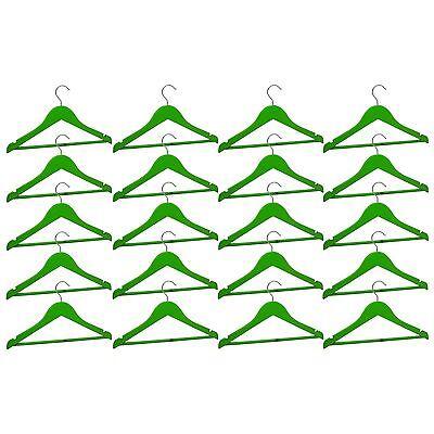 20 Appendiabiti In Legno Per Bambini Kids Clothes Hanger Barra Pantalone Verde-mostra Il Titolo Originale Ultimo Stile