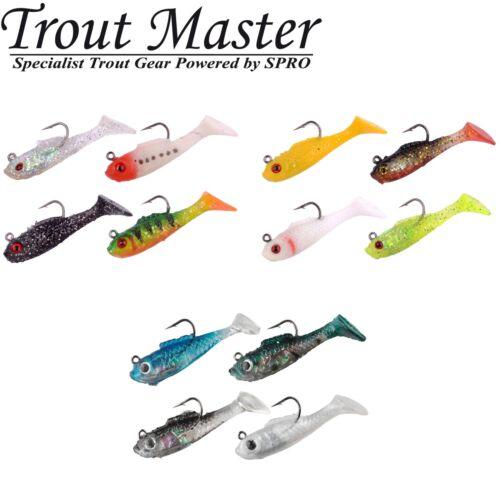 Trout Master Trout Softbait Lures 8 Gummifische 4cm 2g Gummiköder