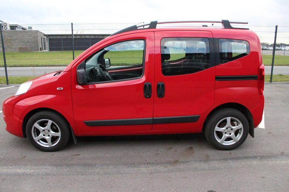 Fiat Qubo 1,3 MJT 75 Active Diesel modelår 2010 km 118000 Rød