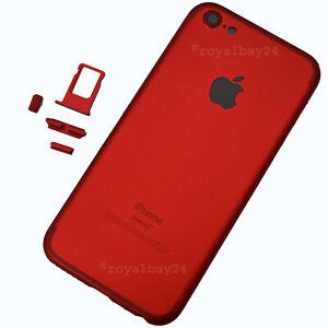 iPhone-5-7-Look-Aluminium-Rahmen-Ruckseite-Rot-Gehause-upgrade-NEU