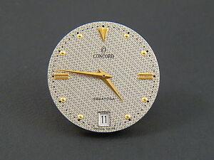 Concord-Saratoga-Silver-Gold-dial-hands-date-incompl-ETA-mov-255-121-parts