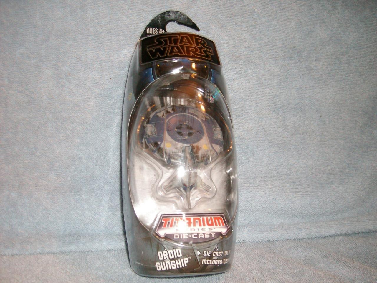 Droid Gunship Die-cast Star Wars Micromecánica Galoob PSIM 2009 Titanio Nuevo Rareza