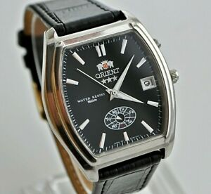 VINTAGE-ORIENT-CRYSTAL-AAA-AUTOMATIC-3-stelle-Day-amp-Date-Uomo-Orologio-da-polso-in-buonissima