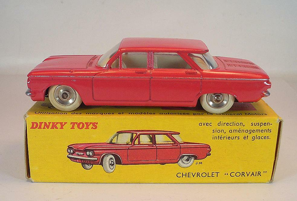 Dinky Toys France 552 Chevrolet Corvair in Rare Red White Interior MIB