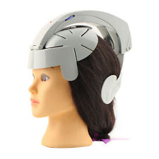 Electric Head Massager Brain Massage Relax Acupuncture Points Gray Fashion UU